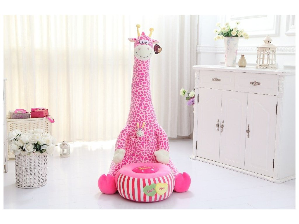 new creative plush pink giraffe tatami toy big cartoon giraffe sofa doll children s sofa gift