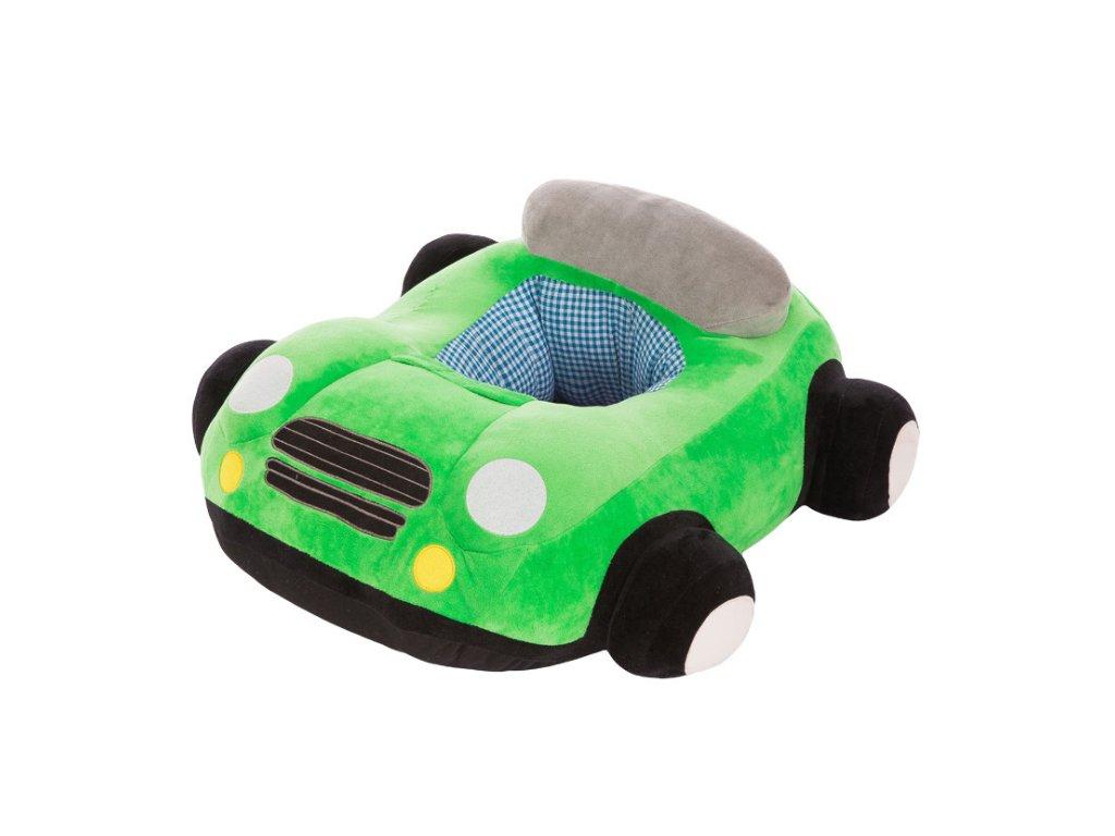 BABY kreslo - Auto zelené + hrnček ZADARMO