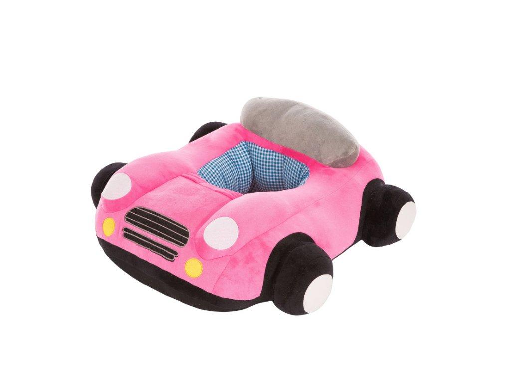 BABY kreslo - Auto ružové + hrnček ZADARMO