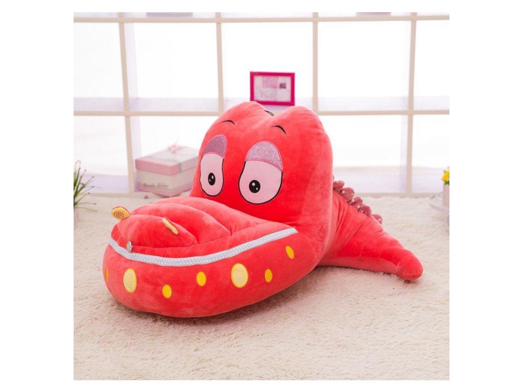 Detské kreslo - Krokodíl červený + hrnček ZADARMO