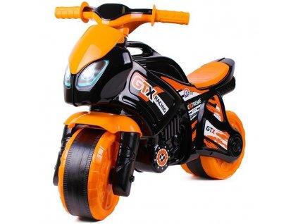 Odrážadlo motorka oranžovo-čierna