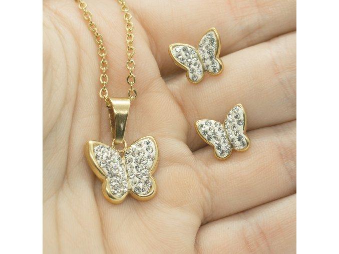 Steel Set Zlatý Motýľ