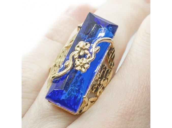 Prsteň Blue Rose