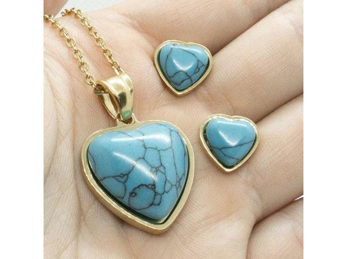 Steel Set Blue Heart