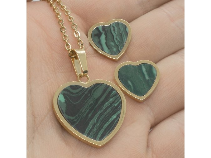 Steel Set Green Heart