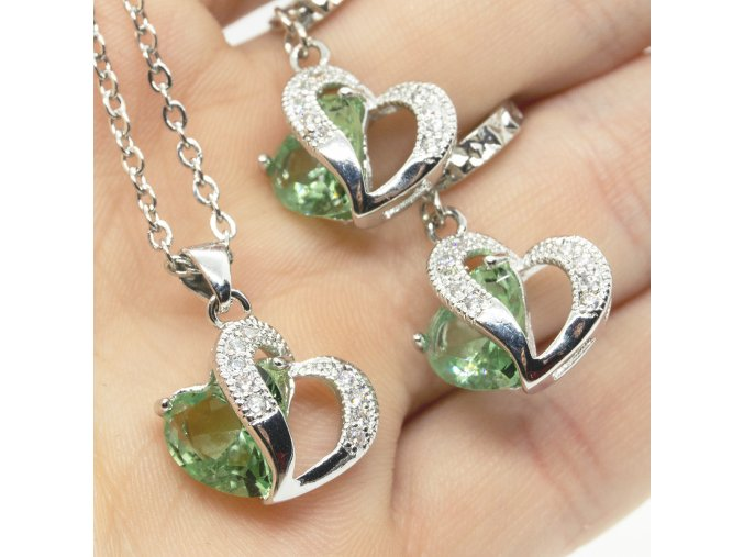 Silver Love Green