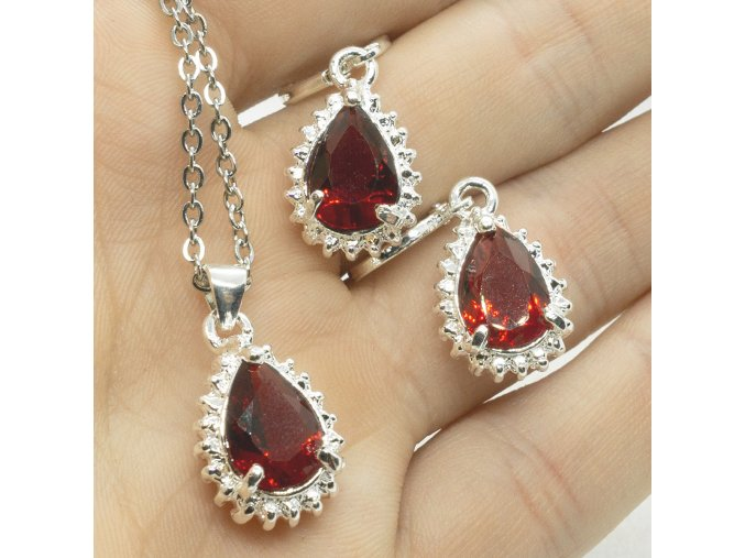 Silver Red Drop