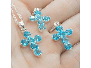 Silver Set Blue Cross