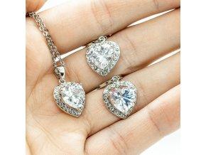 Silver Crystal Heart