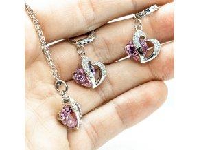 Silver Love Pink
