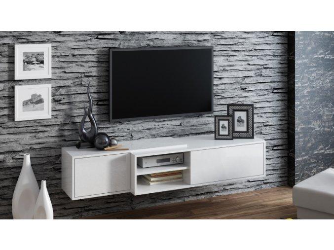 Závěsná skříňka pod televizor/rádio SIGMA 1 WHITE
