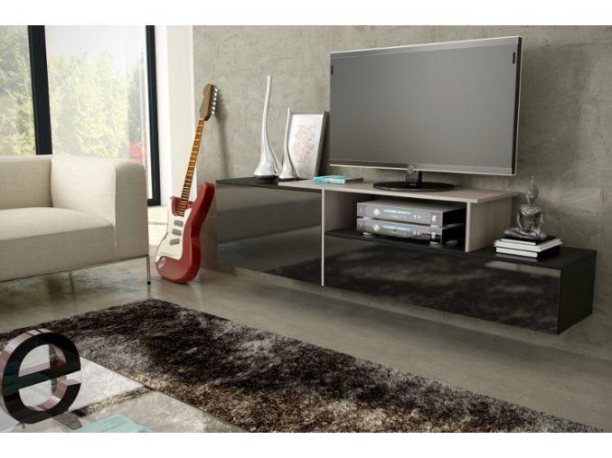 Závěsná skříňka pod televizor/rádio SIGMA 3D