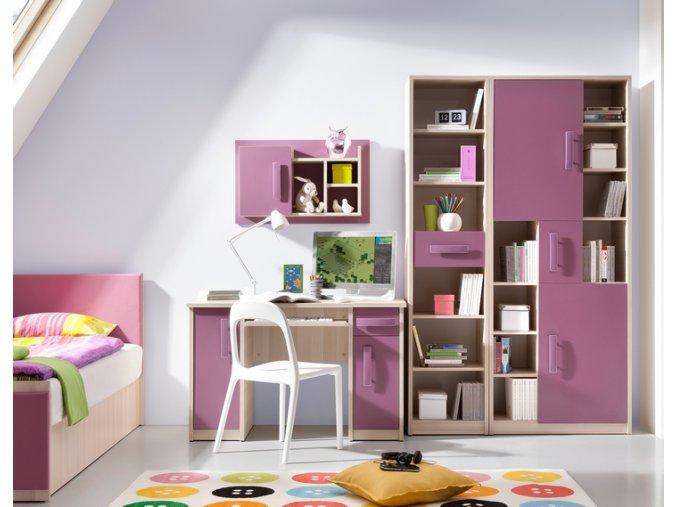 Levný nábytek do dětského pokoje BREGI sestava 17