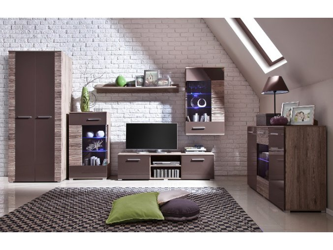 Luxusní obývací stěna BRICO Sestava 3