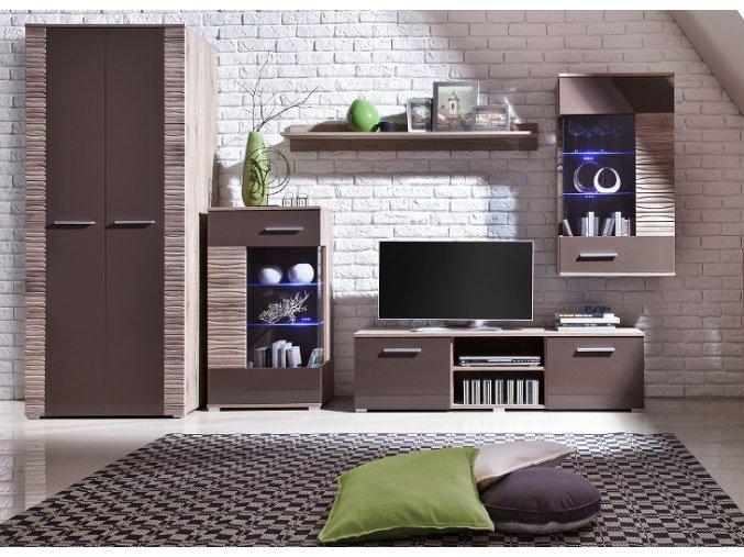 Stylová obývací stěna BRICO 6