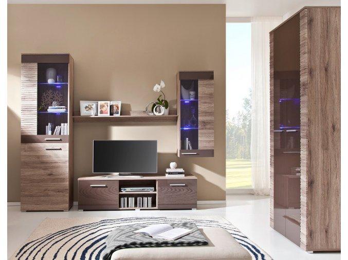 Moderní obývací stěna BRICO Sestava 8