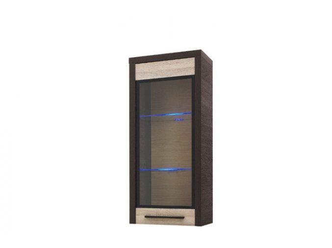 KD12 Skříňka závěsná 1D KOLDER (BARVA LED OSVĚTLENÍ RGB +750 Kč)