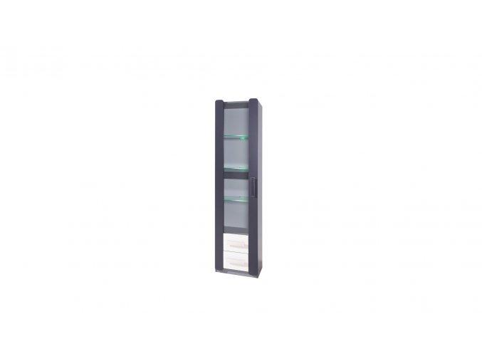 vitrína sklo bílá