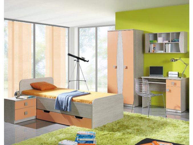 Levný nábytek do dětského pokoje TENUS sestava 14