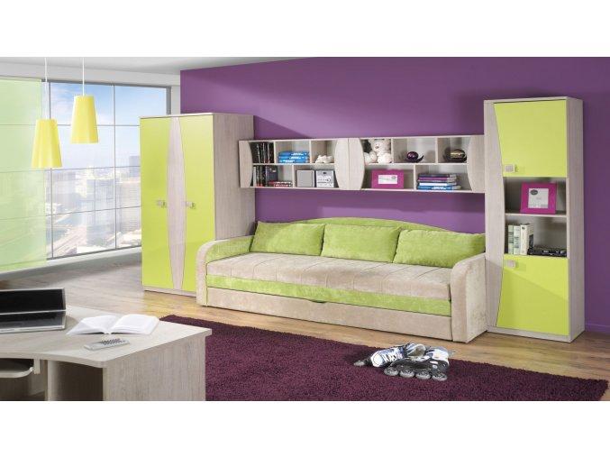 zelená gauč