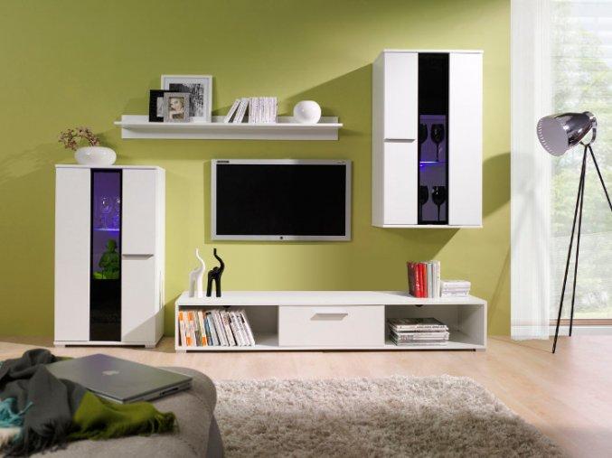 Levná obývací stěna RICO 2 (BARVA LED OSVĚTLENÍ RGB +750 Kč)