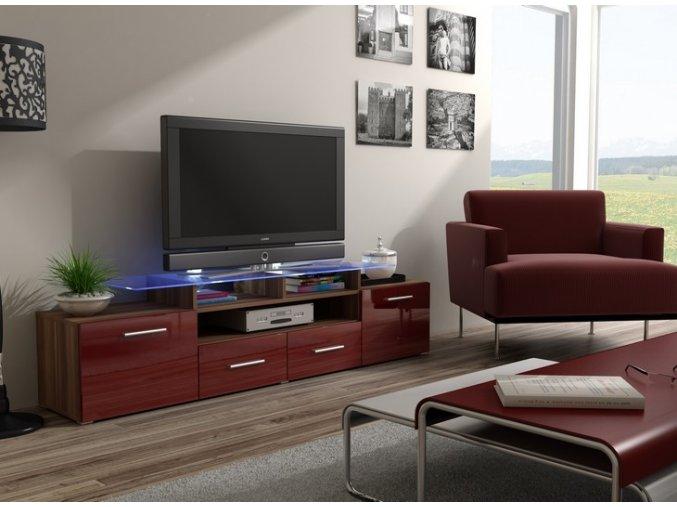 Komoda pod televizor/rádio EVORA 15 (BARVA LED OSVĚTLENÍ RGB +750 Kč)