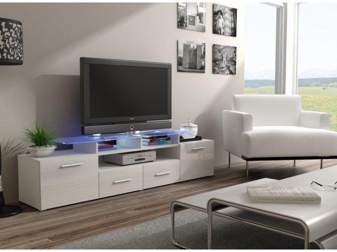 Komoda pod televizor/rádio EVORA 2 (BARVA LED OSVĚTLENÍ RGB +750 Kč)