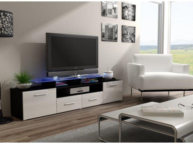 Komoda pod televizor/rádio EVORA 6 (BARVA LED OSVĚTLENÍ RGB +750 Kč)