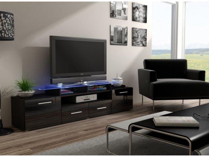 Komoda pod televizor/rádio EVORA 9 (BARVA LED OSVĚTLENÍ RGB +750 Kč)
