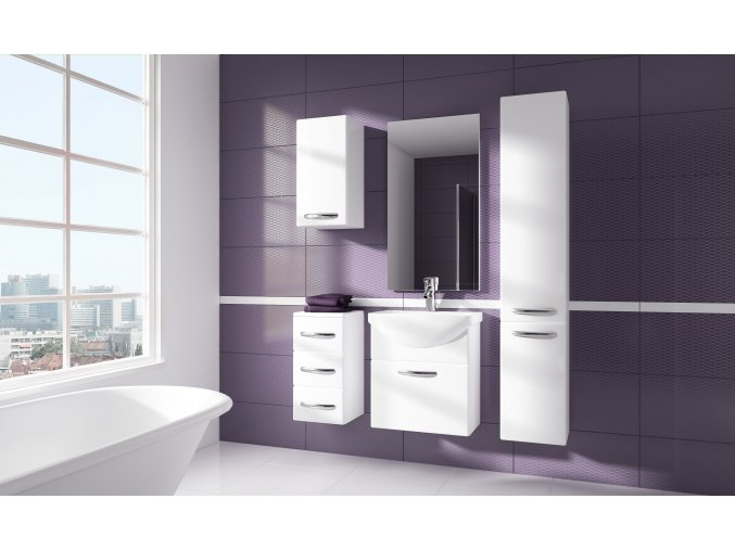Trendy koupelnový nábytek KORAL 55 Bílý lesk