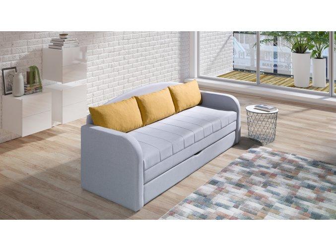 sofa žlutá 2