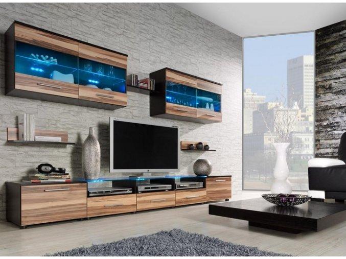 Moderní obývací stěna CAMA 1E Wenge / Ořech baltimore
