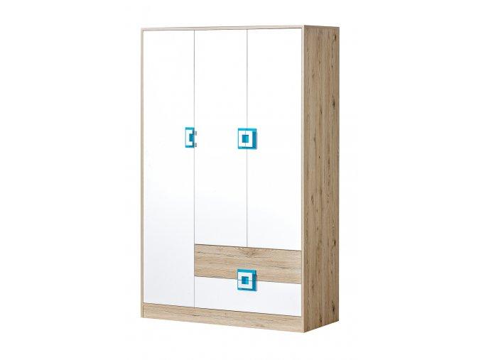 NO3 Šatní skříň 3D2S NICO
