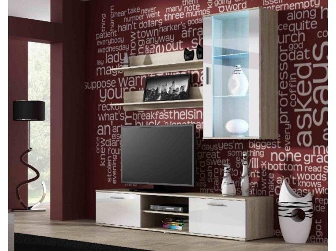 Stylový obývací pokoj SOHO 5E (BARVA LED OSVĚTLENÍ Zelená +390 Kč)