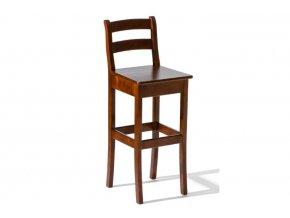Barová židle H-8 dřevěné sedadlo