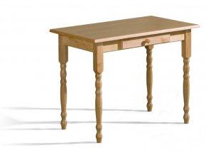 Stůl Max 2 60x100 se šuplíkem a dřevěnou deskou OLŠE