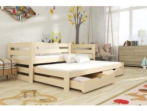 Patrová postel nízká SARA 2
