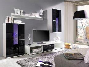 Stylová obývací stěna RICO 3 (BARVA LED OSVĚTLENÍ RGB +750 Kč)