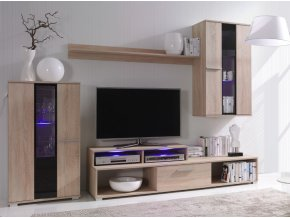 Elegantní obývací stěna ROCO 4 (BARVA LED OSVĚTLENÍ RGB +890 Kč)