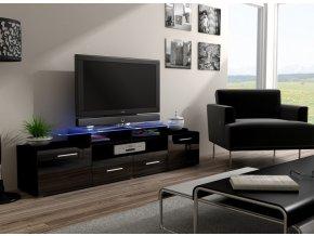 Tmavý stolek pod televizor/rádio EVORA 5