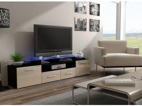 Komoda pod televizor/rádio EVORA 8 (BARVA LED OSVĚTLENÍ RGB +750 Kč)