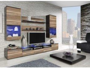 Moderní obývací stěna CAMA 2E Wenge / Ořech baltimore