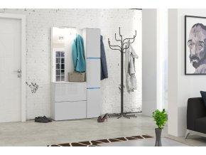 Garderoba TRENDY biały + biały połysk