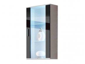 SH2 - Závěsná vitrína SOHO (LED osvětlení 2 bodové zelená +390 Kč, Barevné provedení SOHO2 SOHO E: korpus dub sonoma/čelo bílý lesk)
