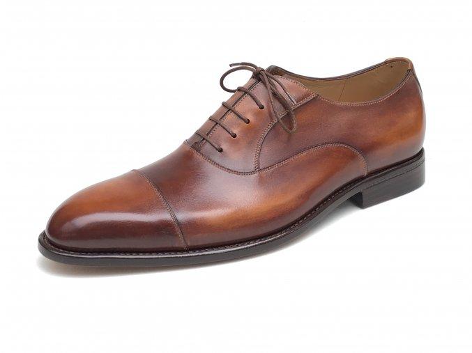 Plain oxford - ukázka ručně šité luxusní rámové obuvi na míru
