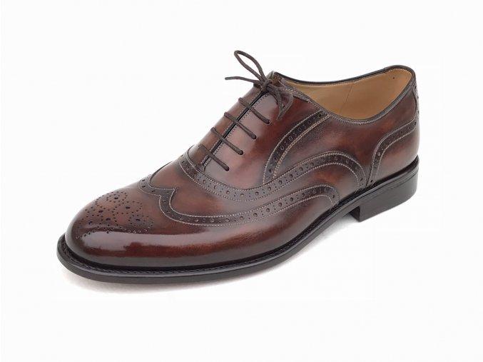 Full brogue oxford - ukázka luxusní obuvi na míru