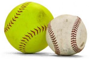 Baseball a softball