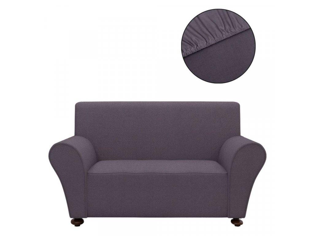 Strečový potah na pohovku, antracivový polyesterový žerzej