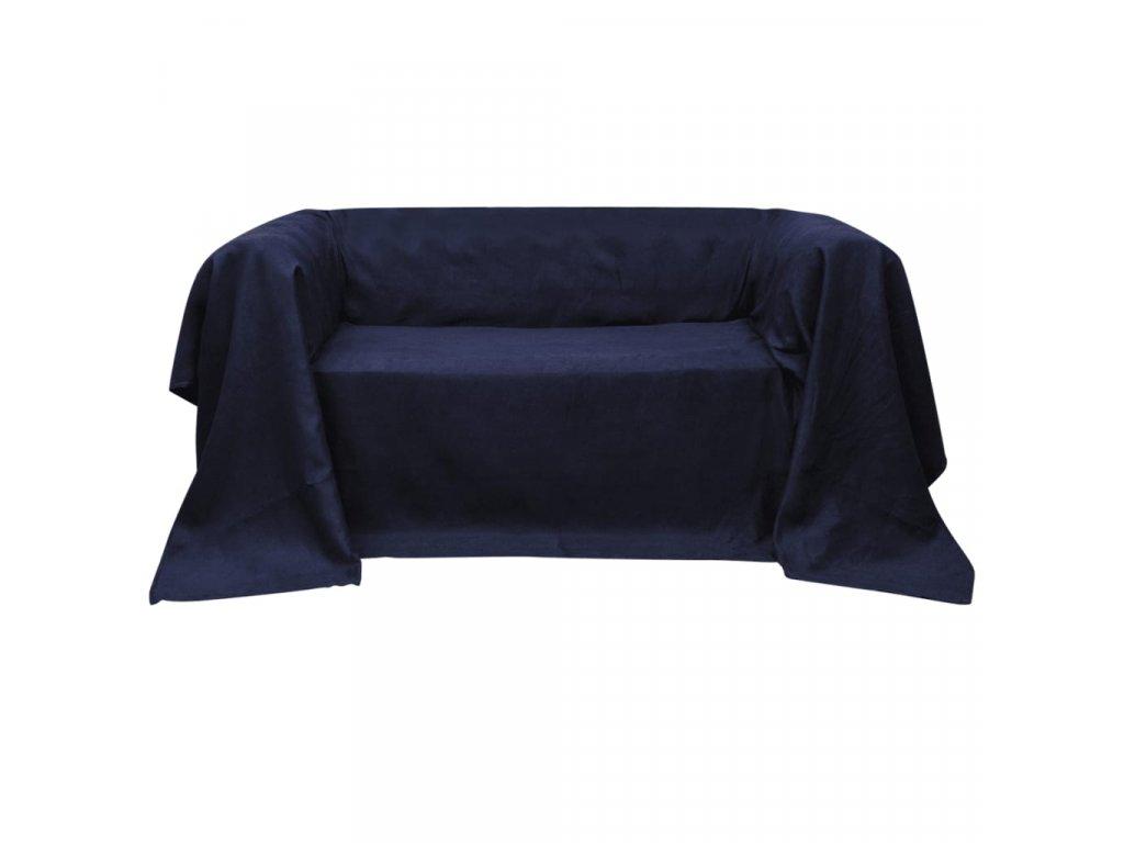 Mikrosemišový potah na pohovku, námořnická modř 210 x 280 cm