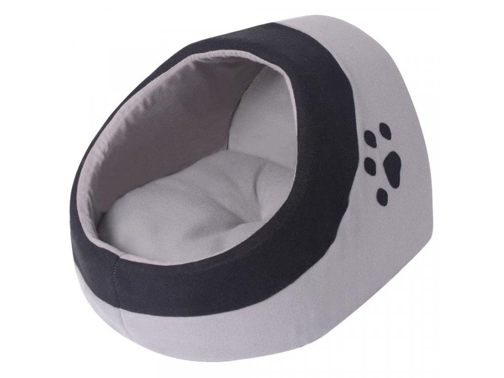Kočičí pelíšek šedá a černá L